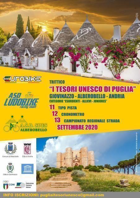 I tesori Unesco della Puglia», trittico di ciclismo tra le bellezze di Giovinazzo, Alberobello e Andria