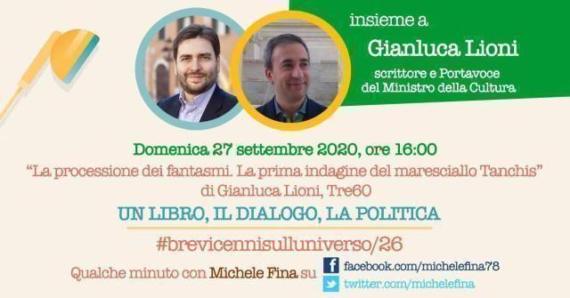 """""""Un libro, il dialogo, la politica"""", con Gianluca Lioni e il suo """"La processione dei fantasmi"""