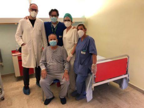 Ad 83 anni salvato in urgenza dai medici di Mater Dei
