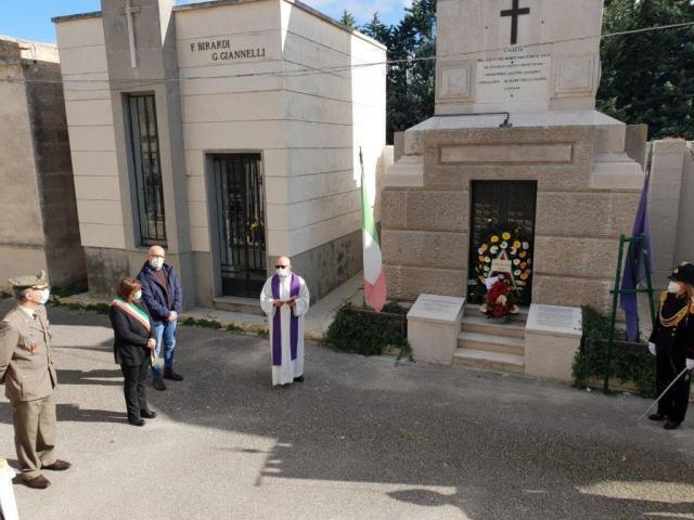 Nella ricorrenza dei morti deposte corone ai monumenti degli austro-ungarici