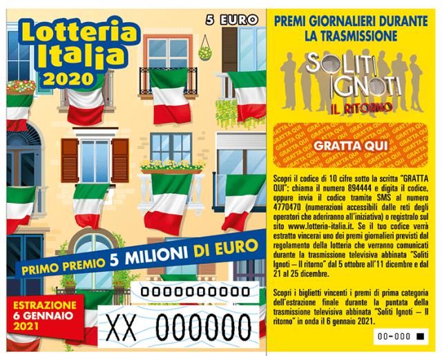 Lotteria Italia 2020: 4,7 milioni di biglietti acquistati (-30%), non succedeva da 40 anni