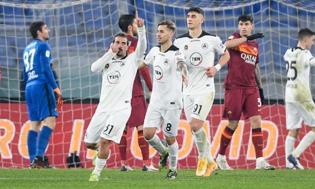 Coppa Italia: incubo Roma, passa lo Spezia 4-2