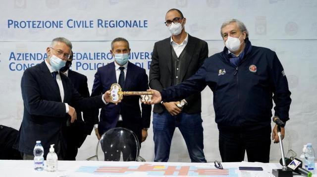 Bari, emergenza Covid: inaugurato ospedale in Fiera;17,5 milioni di euro per 152 posti letto al servizio di tutta la Puglia