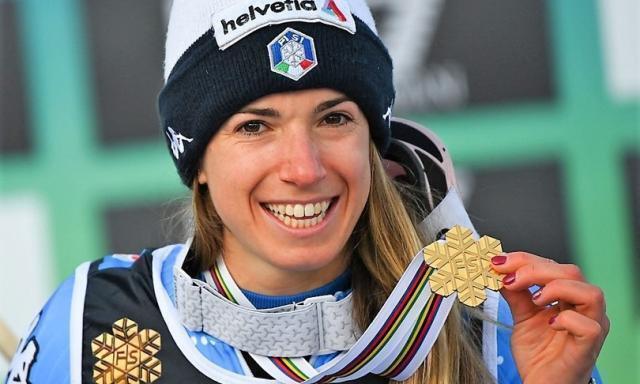 MartaBassino oroin parallelo ai Mondiali di sci di Cortina