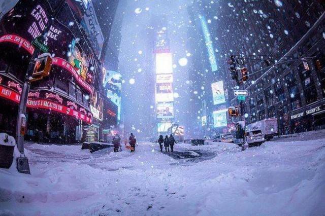 Tempesta di neve a New York