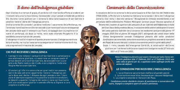 Giubileo centenario canonizzazione San Gabriele dell'Addolorata