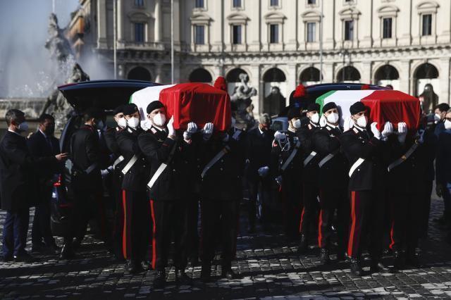 Svolti stamane i funerali di Stato di Attanasio e Iavocacci