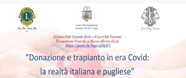 Donazione e trapianto in era Covid: le realtà italiana e pugliese