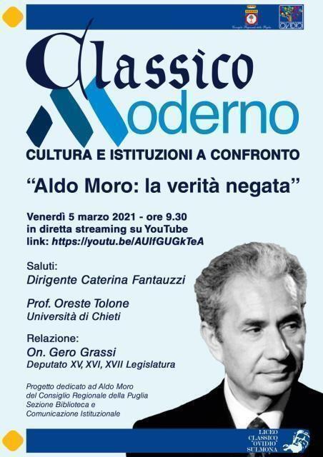 """""""Aldo Moro: la verità negata"""", il 5 marzo a Sulmona (AQ)"""