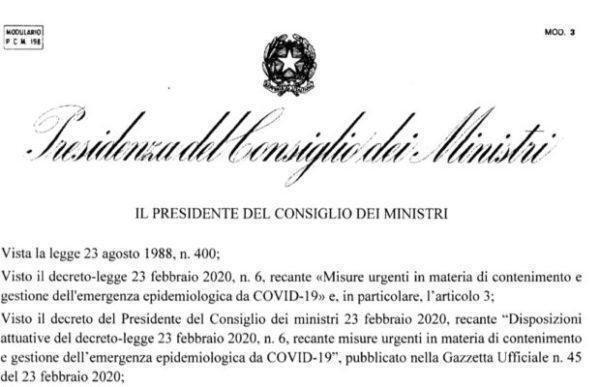 I DPCM (decreti del Presidente del Consiglio dei Ministri) sono conformi alla Costituzione?