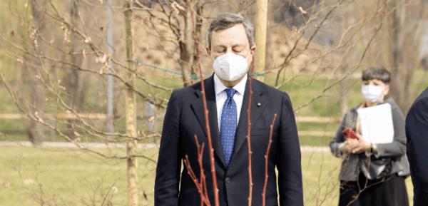 Draghi a Bergamo per inaugurare il bosco della memoria per le vittime della pandemia