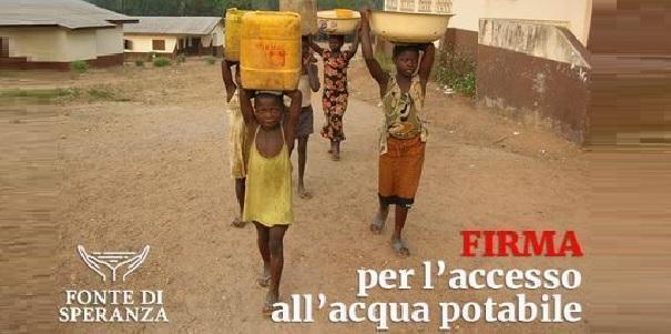 Petizione per l'accesso all'acqua potabile per tutti!
