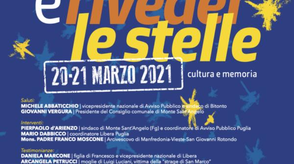"""La Regione Puglia celebra la """"Giornata della memoria e dell'impegno in ricordo delle vittime innocenti delle mafie"""""""