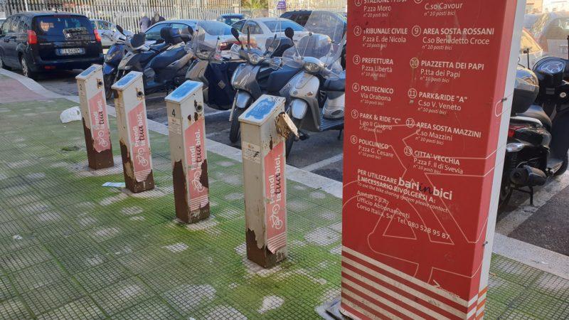 Bike sharing a Bari tra degrado e fallimento