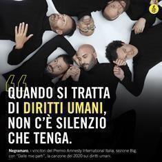 Ai Negramaro il premio Amnesty per la miglior canzone sui diritti umani