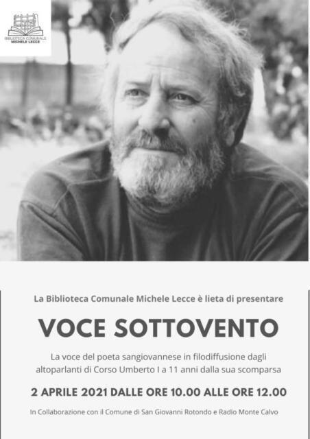 """""""Voce sottovento""""La voce di Giovanni Scarale in filodiffusione a 11 anni dalla sua scomparsa"""