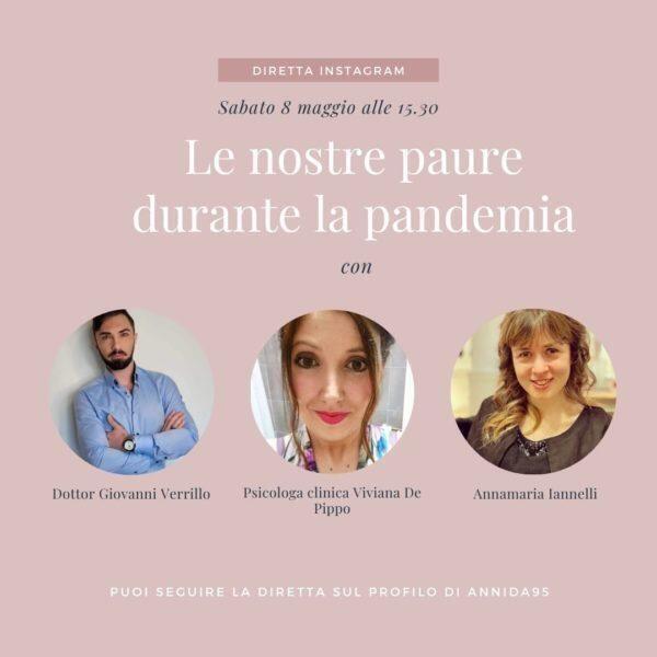 "Diretta Instagram: ""Le nostre paure durante la pandemia"""