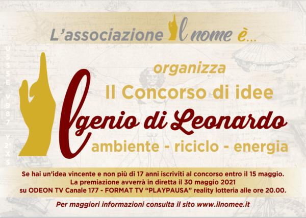 """Al via la I edizione del Concorso di idee """"Il genio di Leonardo"""""""
