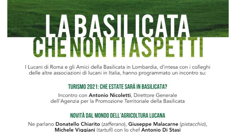 """""""La Basilicata che non ti aspetti"""" – video incontro 14 maggio ore 18"""