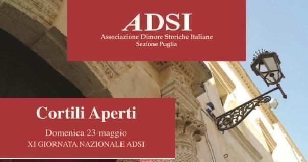 Associazionedimore storiche italiane:oggidomenica 23 maggio torna la giornata nazionale