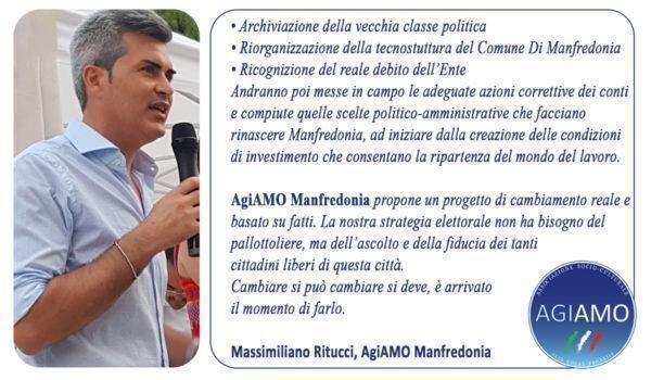 Volti e temi di agiamo manfredonia:Verso le amministrative 2021, la parola a Massimiliano Ritucci