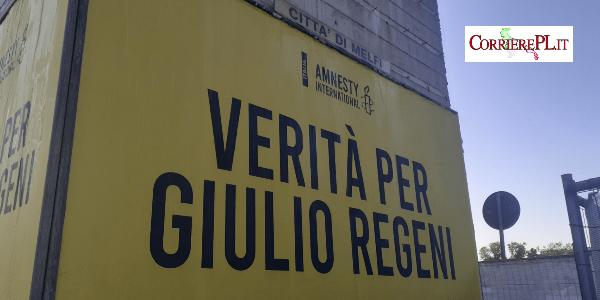 Melfi – Su Viale Aldo Moro compare lo slogan per Giulio Regeni