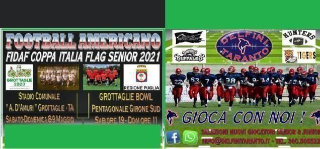 Grottaglie (Taranto) – La Coppa Italia di football americano 8 e 9 maggio