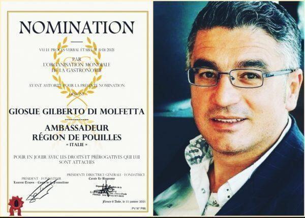 Giosue Gilberto Di Molfetta Ambassador Puglia OMG