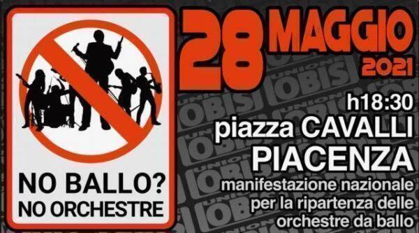 Manifestazione nazionale del settore Orchestre da ballo per chiedere di poter tornare a lavorare