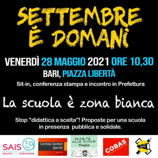 Giornata di mobilitazione per la scuola all'interno della settimana promossa da priorita'alla scuola in Italia