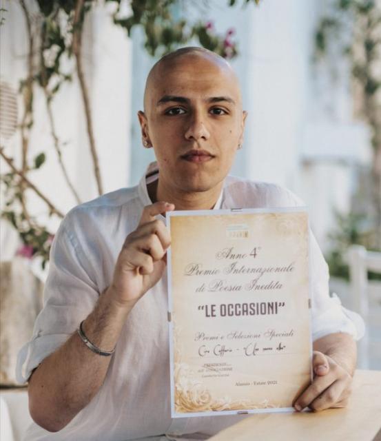 """Premio speciale della giuria per Ciro Cafforio con la poesia """"una nuova alba"""""""