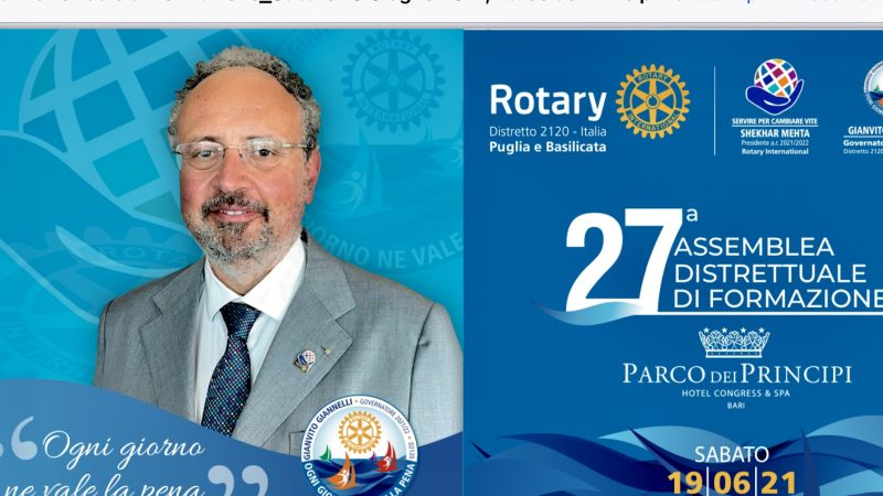 Rotary: 27 assemblea distrettuale di formazione
