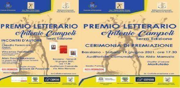 """Premio Letterario""""Antonio Campoli"""" Terza Edizione"""