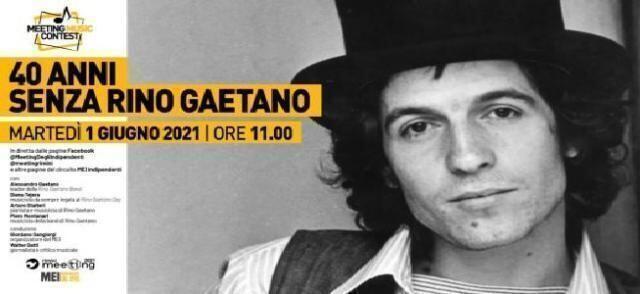 40 anni senza Rino Gaetano – Al MEI l'omaggio