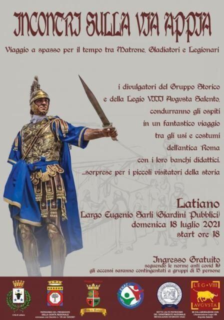 Incontri sulla Via Appia a Latiano – viaggio a spasso per il tempo tra matrone, gladiatori e legionari