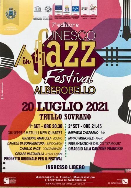 UNESCO in Jazz Festival, tutto pronto per la settima edizione