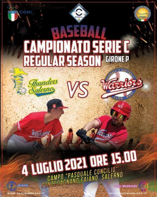Baseball: a Salerno il BC Bari Warriors in cerca della prima vittoria in trasferta.
