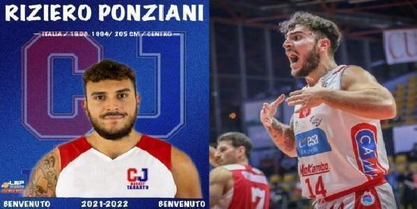 CJ Basket Taranto: ufficiale Riziero Ponziani!