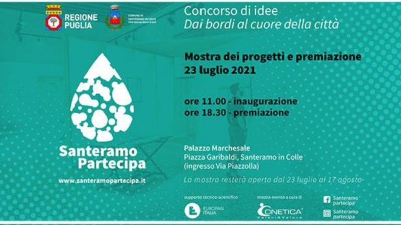 """La mostra dei progetti e premiazione del concorso """"Dai Bordi al cuore della città"""" è stata inaugurata ieri 23 luglio 2021"""