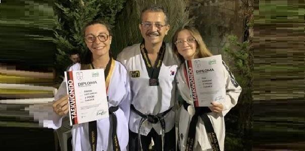 STS Martial Arts Simeone, Gaia Simeone e Arianna Luccarelli 2° Poom di taekwondo
