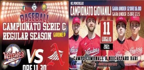 Baseball: A Noicattaro arriva la capolista Angels Matino per la III^ giornata di ritorno.