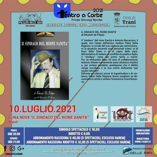 """""""Teatro a Corte – Premio Giovanni Macchia"""" al Palazzo Beltrani a Trani (BT)"""
