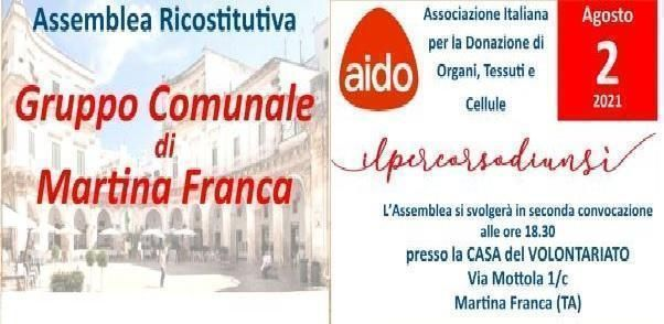 Si ricostituisce l'AIDO a Martina Franca