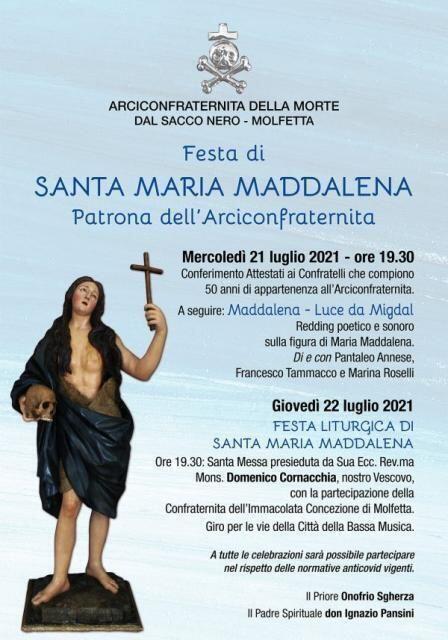 Festa di Santa Maria Maddalena.Il programma ufficiale dell'evento