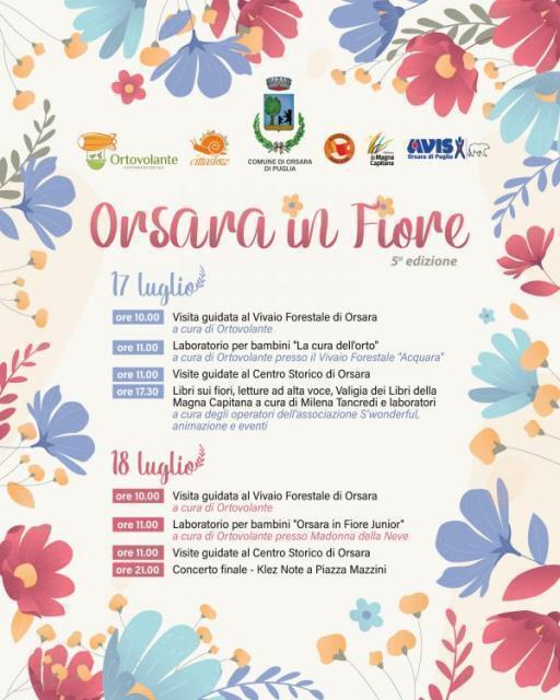 """""""Orsara in Fiore"""", tutto pronto per la quinta edizione"""