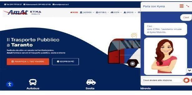 """Taranto – On line """"Kyma"""", l'assistente virtuale per gli utenti di Kyma Mobilità"""