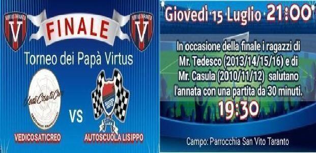 Virtus Taranto, giovedì 15 luglio i saluti finali per la stagione 2020/21