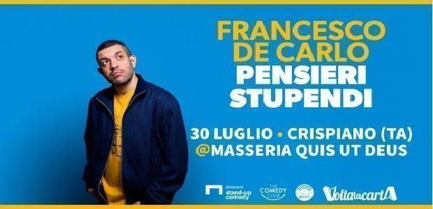 Stand-up comedy, a Crispiano arriva Francesco De Carlo