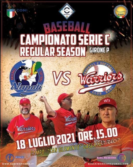 A Napoli il Baseball Club Bari Warriors per la IV^ giornata di ritorno