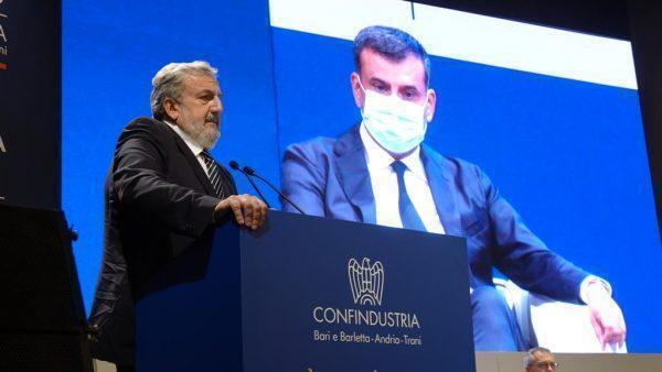 """Assemblea generale Confindustria, Emiliano: """"grande riconoscimento alla Puglia dagli industriali"""""""